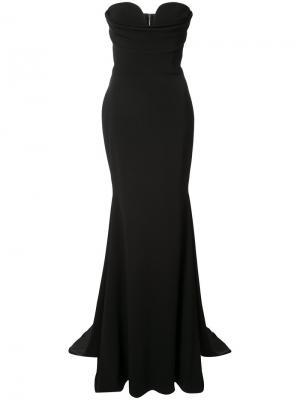 Платье-бюстье длиной в пол Alex Perry. Цвет: чёрный