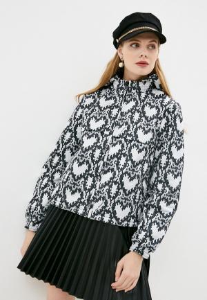 Куртка утепленная Love Moschino. Цвет: белый