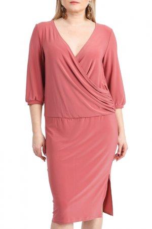 Платье LACY. Цвет: бордовый