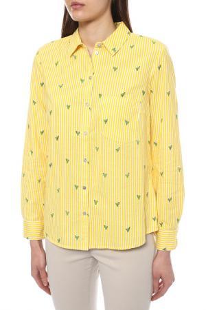 Сорочка MONTEGO. Цвет: желтый