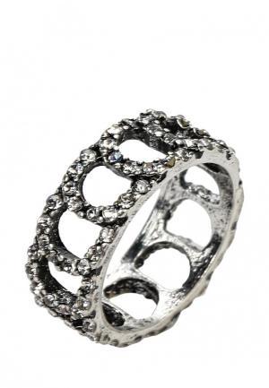 Кольцо diva. Цвет: серебряный