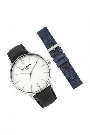 Наручные часы, сменый браслет BEN SHERMAN. Цвет: черный