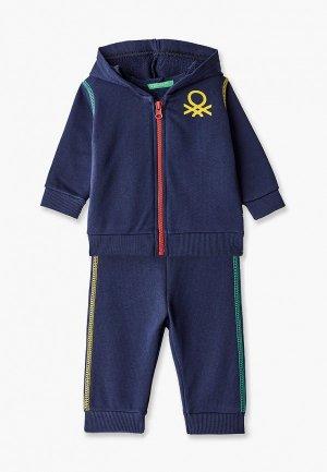 Костюм спортивный United Colors of Benetton. Цвет: синий