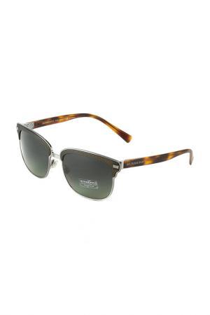 Очки солнцезащитные BURBERRY. Цвет: brushed gunmteal