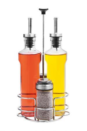 Набор бутылок для специй 5 пр. NADOBA. Цвет: стальной