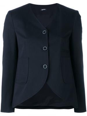 Пиджак с закругленным подолом Jil Sander Navy. Цвет: синий