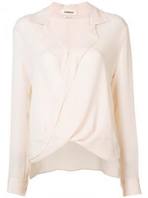 Рубашка с перекрученной деталью Lagence L'agence. Цвет: телесный