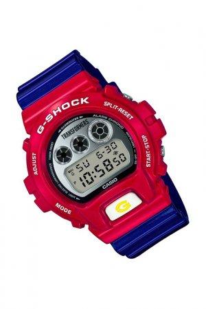 Наручные часы и фигурка робота CASIO. Цвет: синий