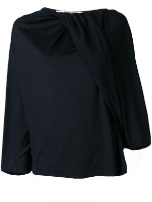 Блузка с драпировкой Chalayan. Цвет: синий