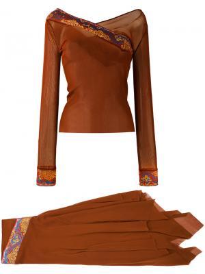Винтажный костюм Jean Paul Gaultier Vintage. Цвет: коричневый