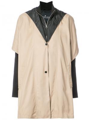 Многослойное пальто Designers Remix. Цвет: телесный