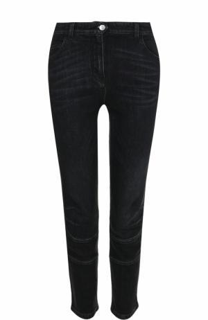 Укороченные джинсы с потертостями Belstaff. Цвет: черный