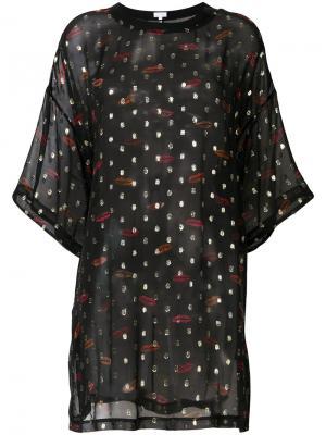 Блузка с принтом Lala Berlin. Цвет: чёрный