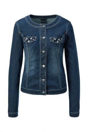Куртка джинсовая Madeleine. Цвет: darkblue