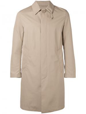 Однобортное пальто Mackintosh. Цвет: телесный