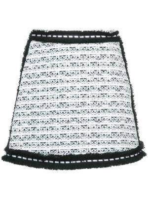 Мини-юбка из твида Roseabell Alexis. Цвет: белый