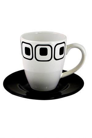 Чашка с блюдцем Club Waechtersbacher. Цвет: белый