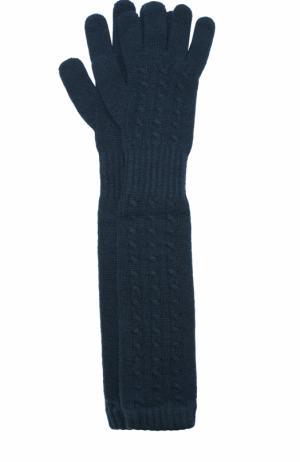 Удлиненные перчатки из кашемира Kashja` Cashmere. Цвет: темно-зеленый
