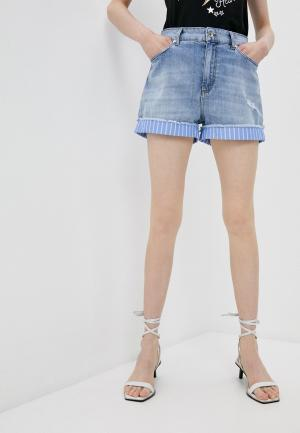 Шорты джинсовые Liu Jo. Цвет: голубой