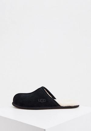 Тапочки UGG. Цвет: черный