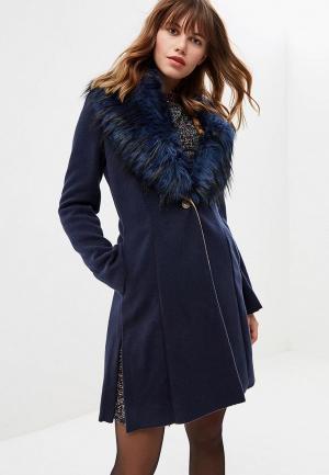 Пальто Met. Цвет: синий