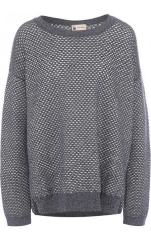 Пуловер из смеси кашемира и хлопка с шелком Colombo. Цвет: синий