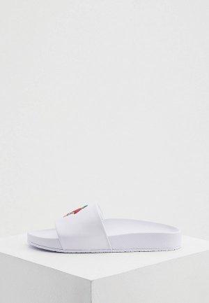 Сланцы Polo Ralph Lauren. Цвет: белый