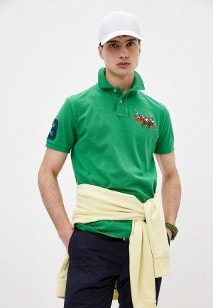 Поло Polo Ralph Lauren. Цвет: зеленый