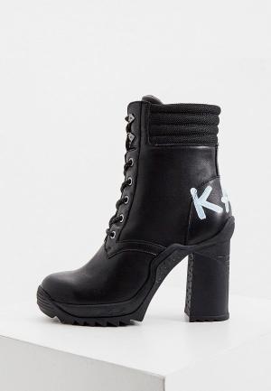 Ботильоны Karl Lagerfeld. Цвет: черный