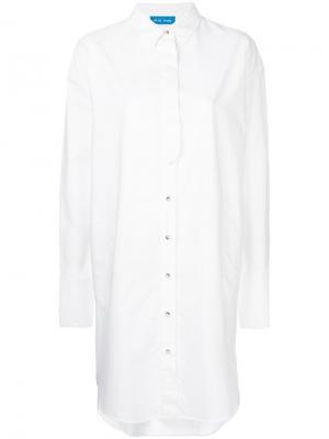Платье-рубашка Triangle Mih Jeans. Цвет: белый
