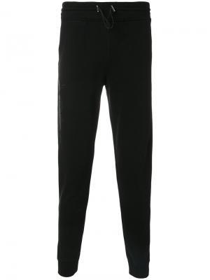Спортивные брюки с принтом змей Hydrogen. Цвет: чёрный