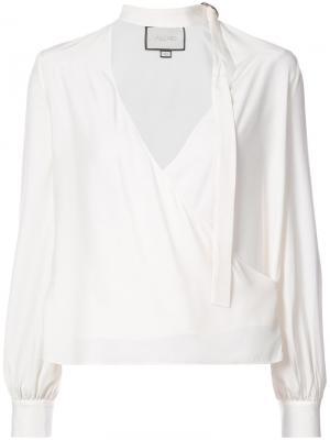 Блузка с вырезной деталью Alexis. Цвет: белый