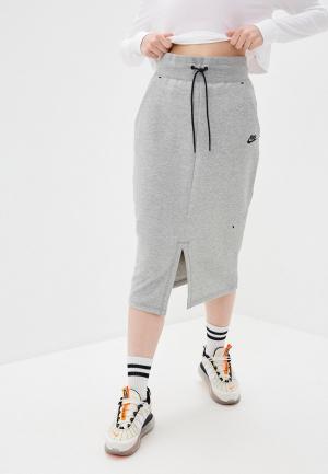 Юбка Nike. Цвет: серый