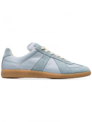 Blue Replica suede sneakers Maison Margiela. Цвет: синий