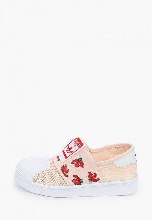 Слипоны adidas Originals. Цвет: розовый