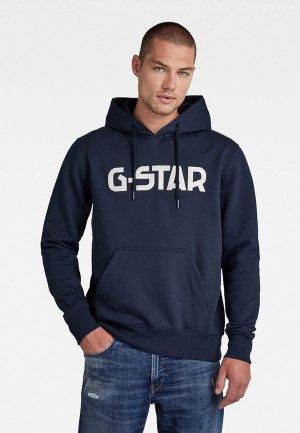 Худи G-Star. Цвет: синий