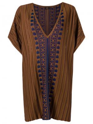 Pattern knit blouse Gig. Цвет: коричневый