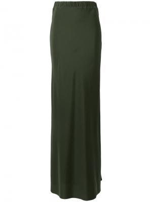 Длинная юбка A.F.Vandevorst. Цвет: зелёный