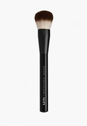 Кисть для лица Nyx Professional Makeup. Цвет: черный