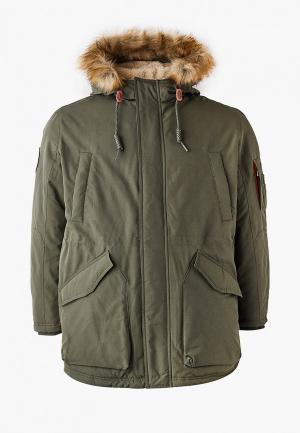 Куртка утепленная Jack & Jones. Цвет: хаки