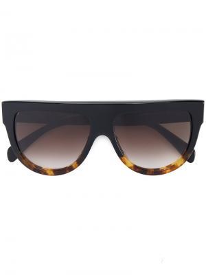 Солнцезащитные очки в черепаховой оправе Céline Eyewear. Цвет: чёрный