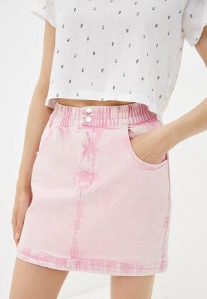 Юбка джинсовая Befree. Цвет: розовый