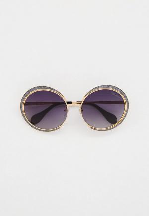 Очки солнцезащитные Blumarine. Цвет: золотой
