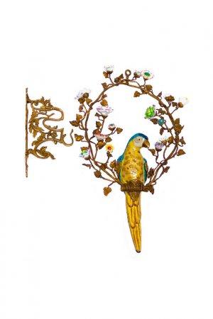 Попугай в кольце ГЛАСАР. Цвет: желтый