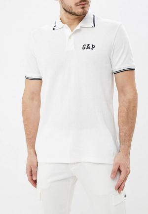 Поло Gap. Цвет: белый