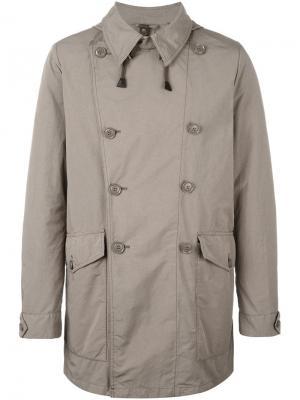 Двубортное пальто Aspesi. Цвет: зелёный