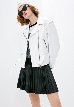 Куртка кожаная The Kooples. Цвет: белый