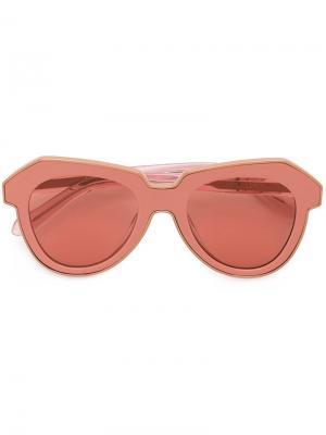 Солнцезащитные очки One Astronaut Karen Walker Eyewear. Цвет: розовый и фиолетовый