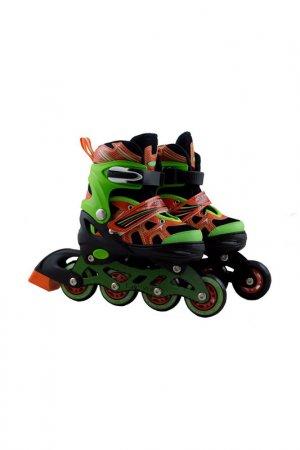 Роликовые коньки для детей ATEMI. Цвет: зелено-оранжевый