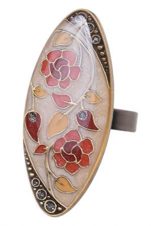 Кольцо CLARA BIJOUX. Цвет: коричневый
